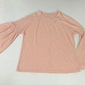 Xhilaration Pajama Bell Sleeve Shirt Peach